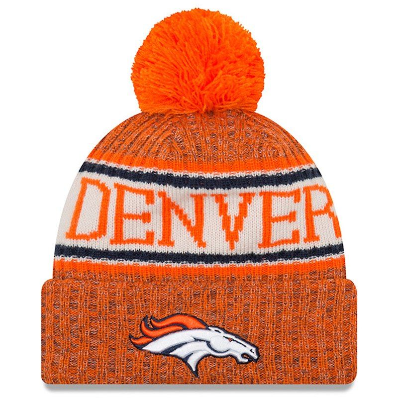 d87f7a9f787 ... reduced denver broncos new era 2018 nfl sideline cold weather official sport  knit hat orange 1a11f ...