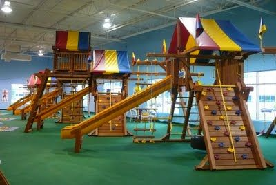 Play St. Louis: Rainbow Swing Set Superstore, Chesterfield   Indoor  Warehouse Full Of