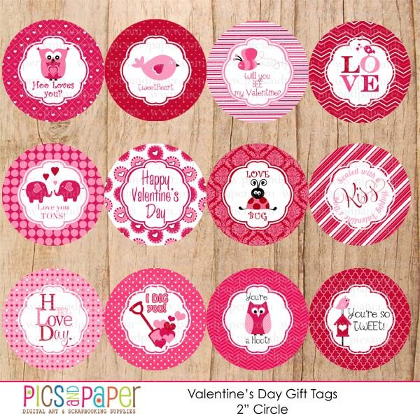 ValentineS Day Printable Tags  Adorable Gift Tags For Valentine