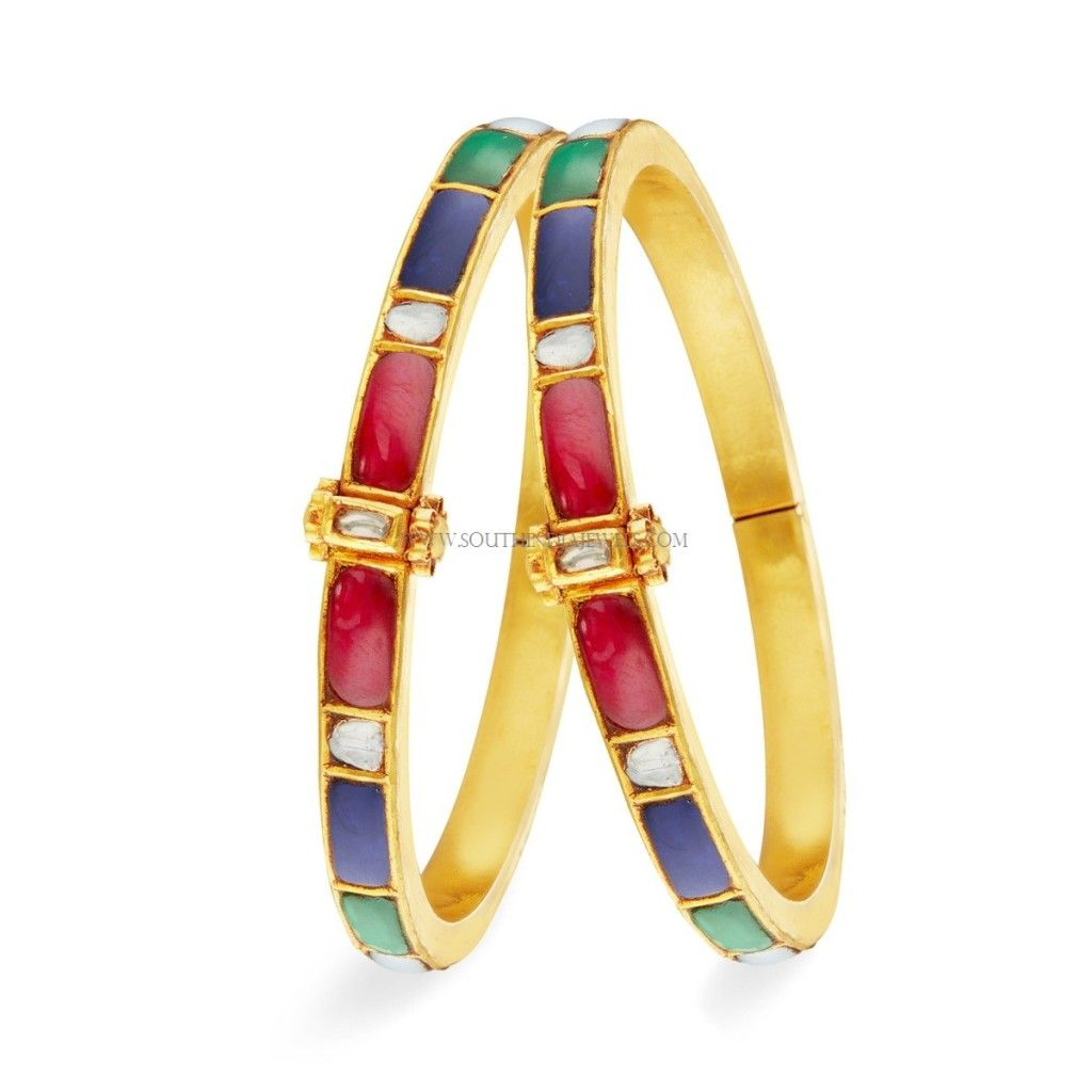 Gold Bangle (Kangan) Designs with Price and Weight | Gold, Gold ...