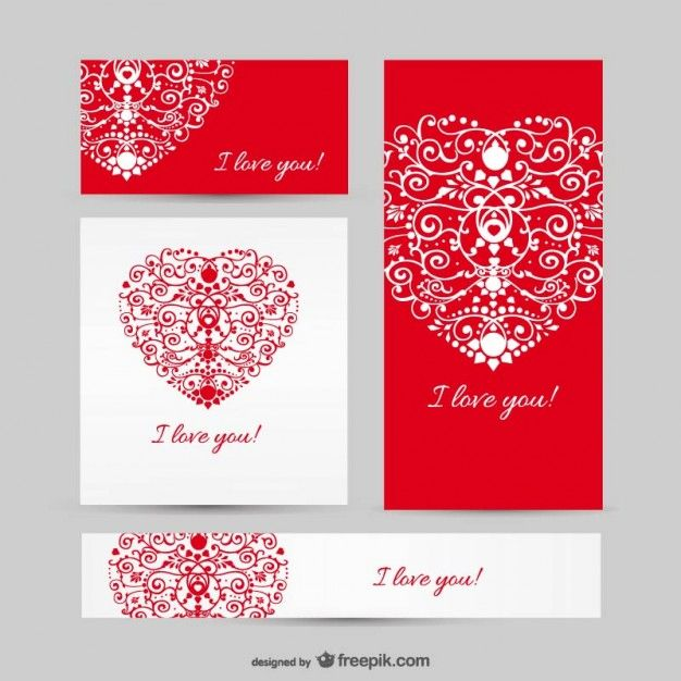 Love set vector templates Free Vector It`s all about weddings - love templates free
