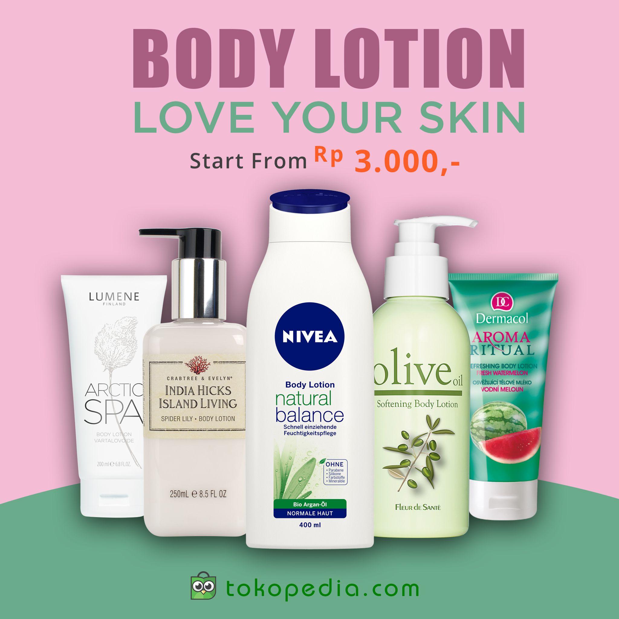 Body Lotion untuk kulit halus dan bercahaya! Dapatkan di
