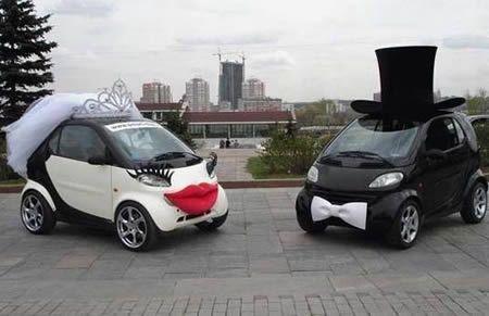 Smart wedding cars; verry funny