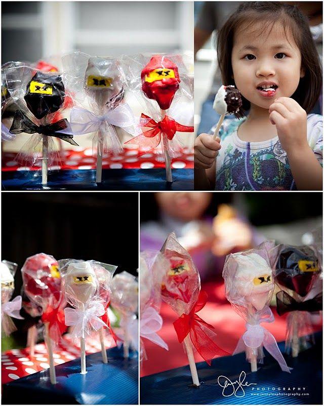 A Lego Ninjago Birthday Party: Lego Ninjago Cakepops For Cooper's Party