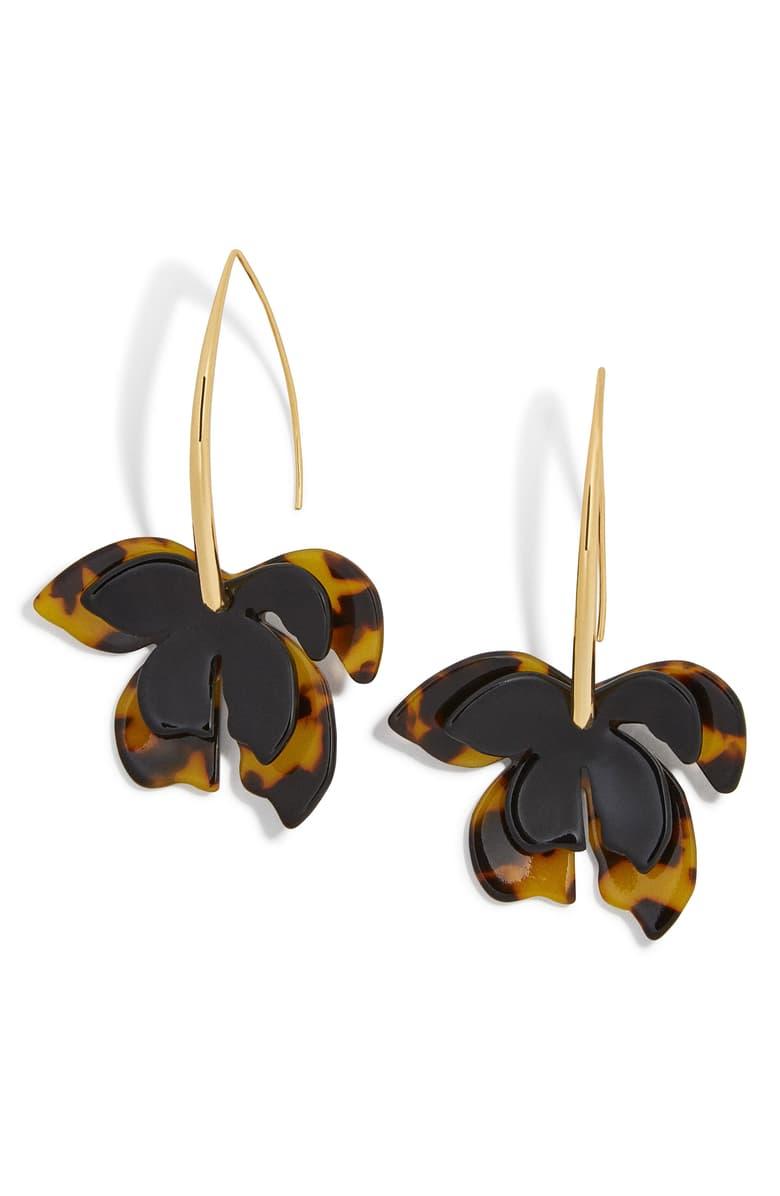 BaubleBar Orchid Drop Earrings   Nordstrom