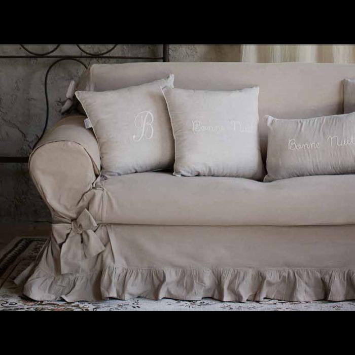 Tessile blanc maricl copri divano shabby tre posti - Copridivano per divano in pelle ...