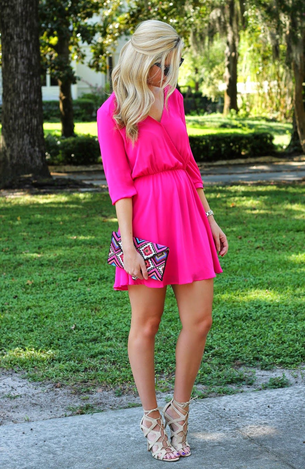 20 weddingready summer wedding guest styles Hot pink