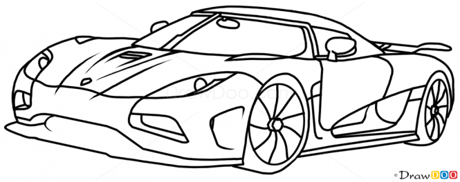 how to draw koenigsegg agera r supercars