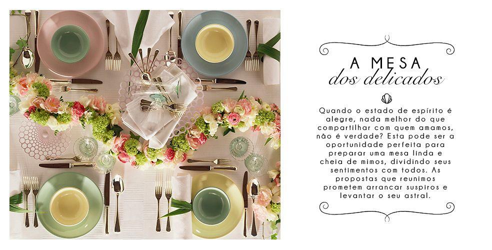 A mesa dos delicados