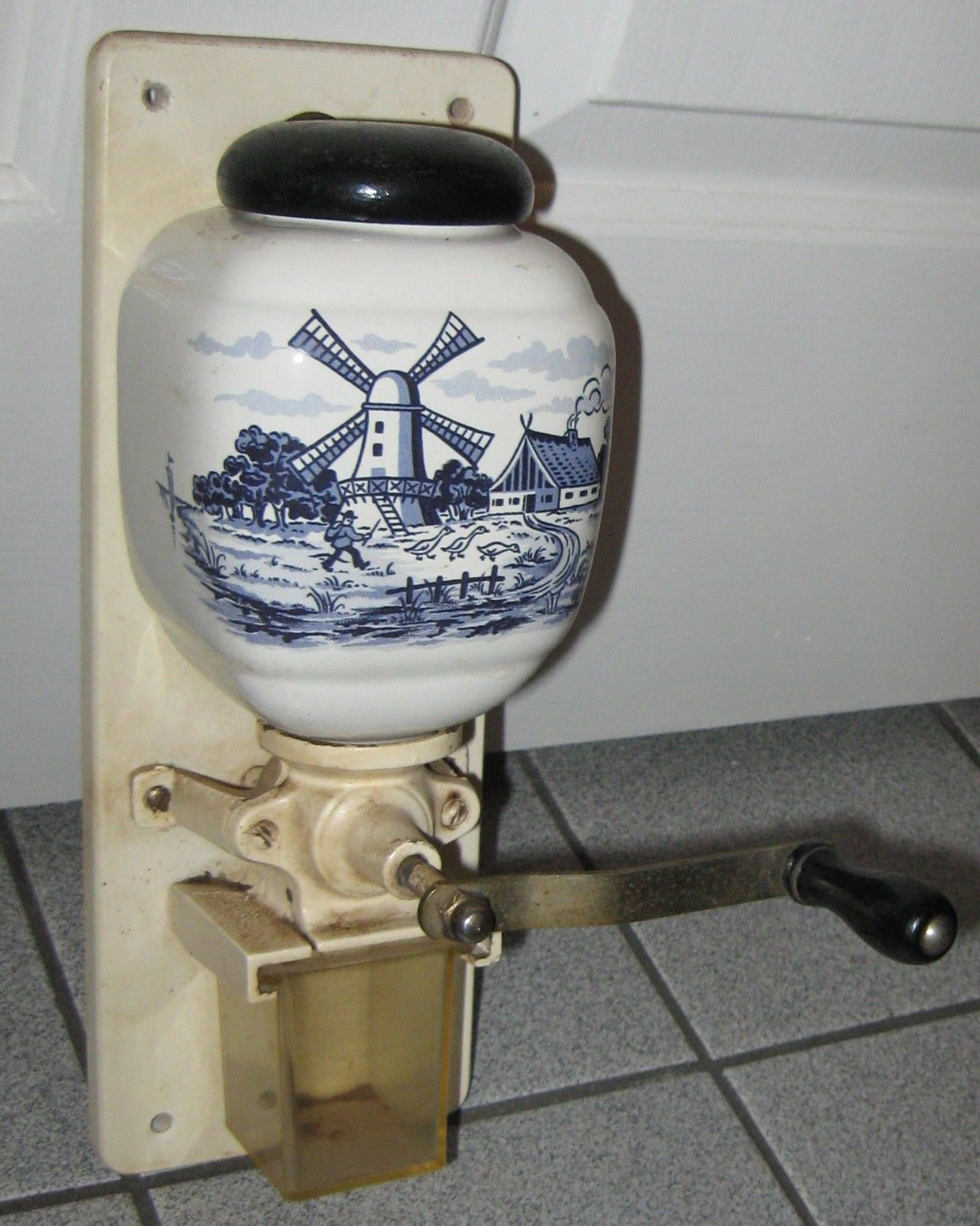 Antique Wall Mount Coffee Grinder Dutch Graphics W
