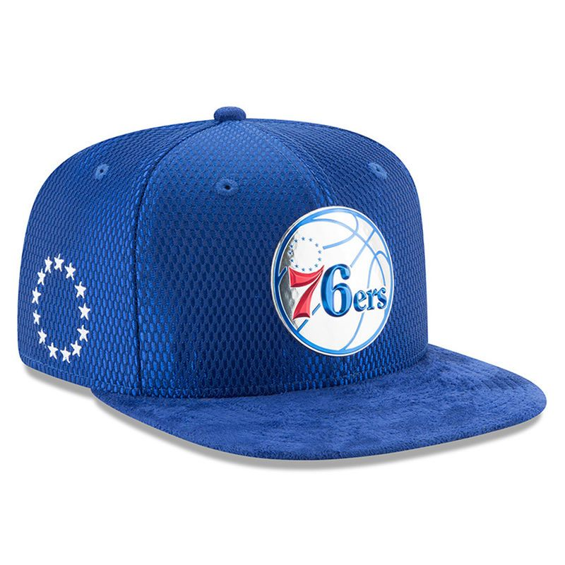 official photos e41d8 30c62 Philadelphia 76ers New Era Youth 2017 NBA Draft Official On Court Collection  9FIFTY Snapback Hat - Royal