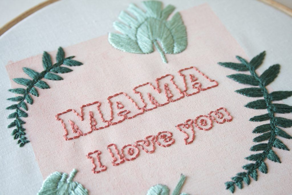 Mothers Day embroidery by Gidsy and Jo