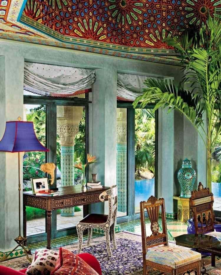 der marokkanische stil 33 orientalische wohnraume mit exotischer note, exotische raumgestaltung mit unterschiedlichen prachtvoll, Möbel ideen