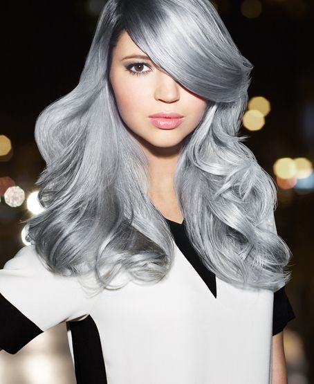 Redken - Silver Start Hairstyle For Silver Blonde Colored Hair ...