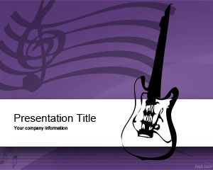 Music Equipment Powerpoint Template Is A Free Violet Powerpoint