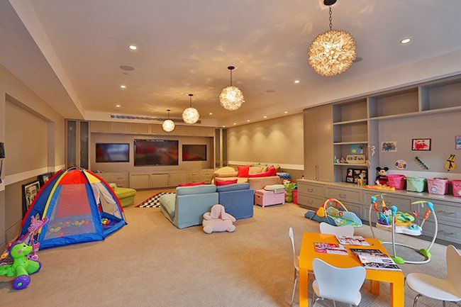 Pin for Later: The Scary Truth About Kourtney and Scott's Dream Home  A look at the vast playroom.   Source: Trulia