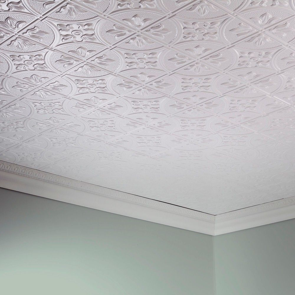 Fasade glue up decorative vinyl ceiling panels provide the classic fasade glue up decorative vinyl ceiling panels provide the classic look of traditional tin ceilings ceiling panels2x4 ceiling tilestin dailygadgetfo Image collections
