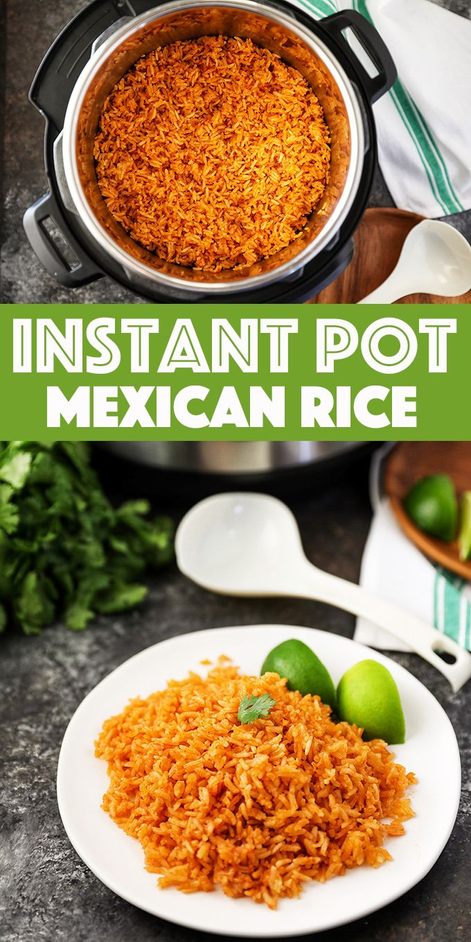 Instant Pot Mexican Rice - the most flavorful and fool-proof Mexican rice in the Instant Pot. The perfect side dish for all your Mexican recipes.