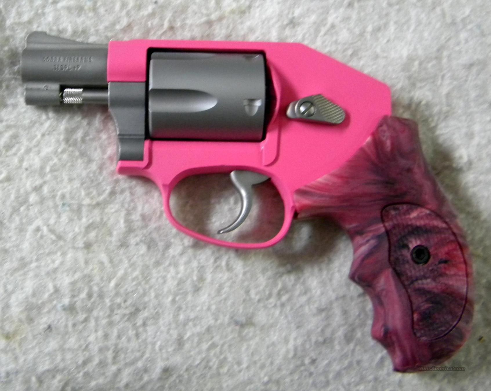 Exclusive Cobra Shadow.38 With Custom Grips Pink Smith