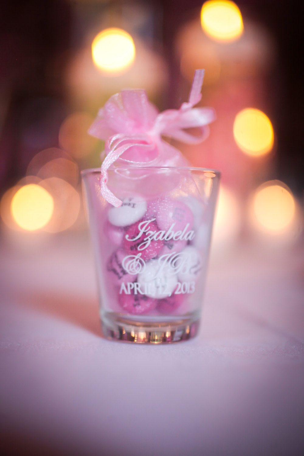 24 Personalized 1.5oz Wedding Favors Glass Shot Glasses by Factory21 ...