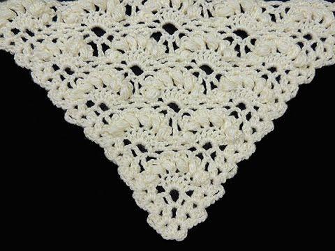 Cómo Tejer Punto Abanico Puff al Crochet / Tutoriales en video ...