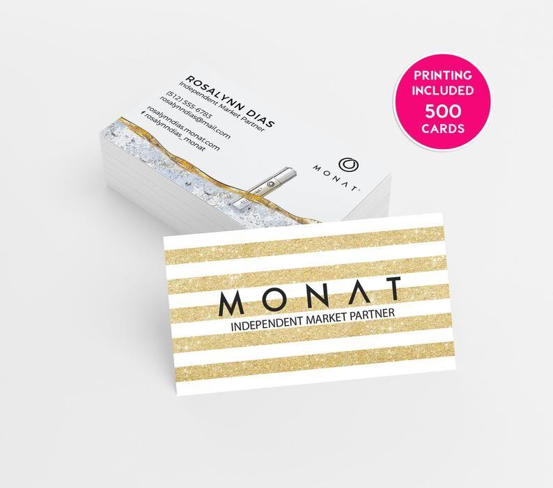 Monat Glitter Gold Business Card Design 500 Business Cards Etsy Printing Business Cards Business Card Design Gold Business Card