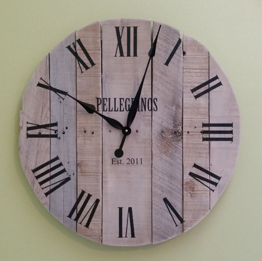 36 Large Pallet Clock Reclaimed Wood Wall Rustic