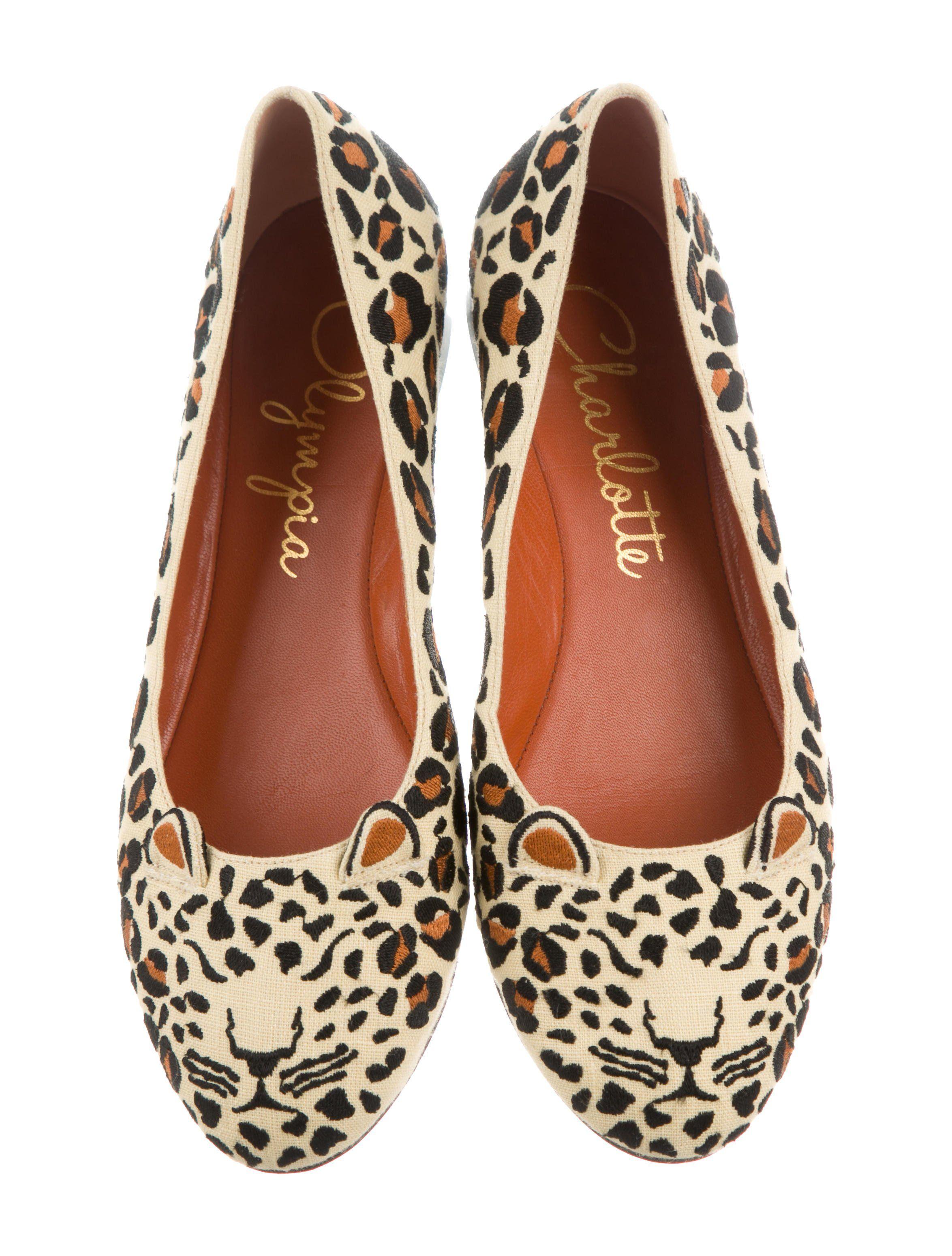 charlotte olympia leopard flats