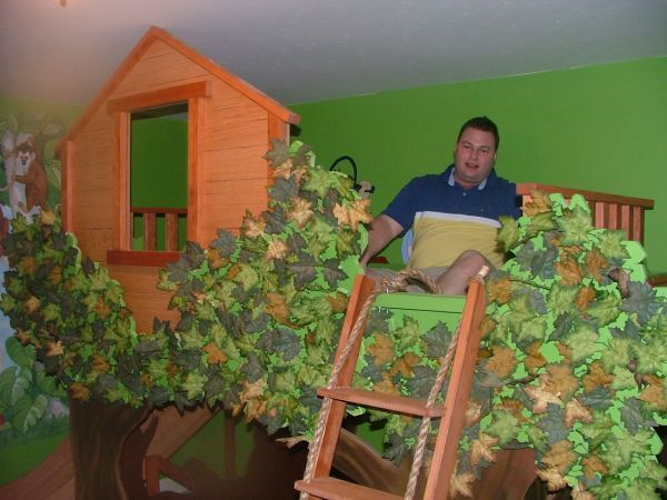 Kids Bedroom Tree House weird random guy. but cool bed haha google image result for