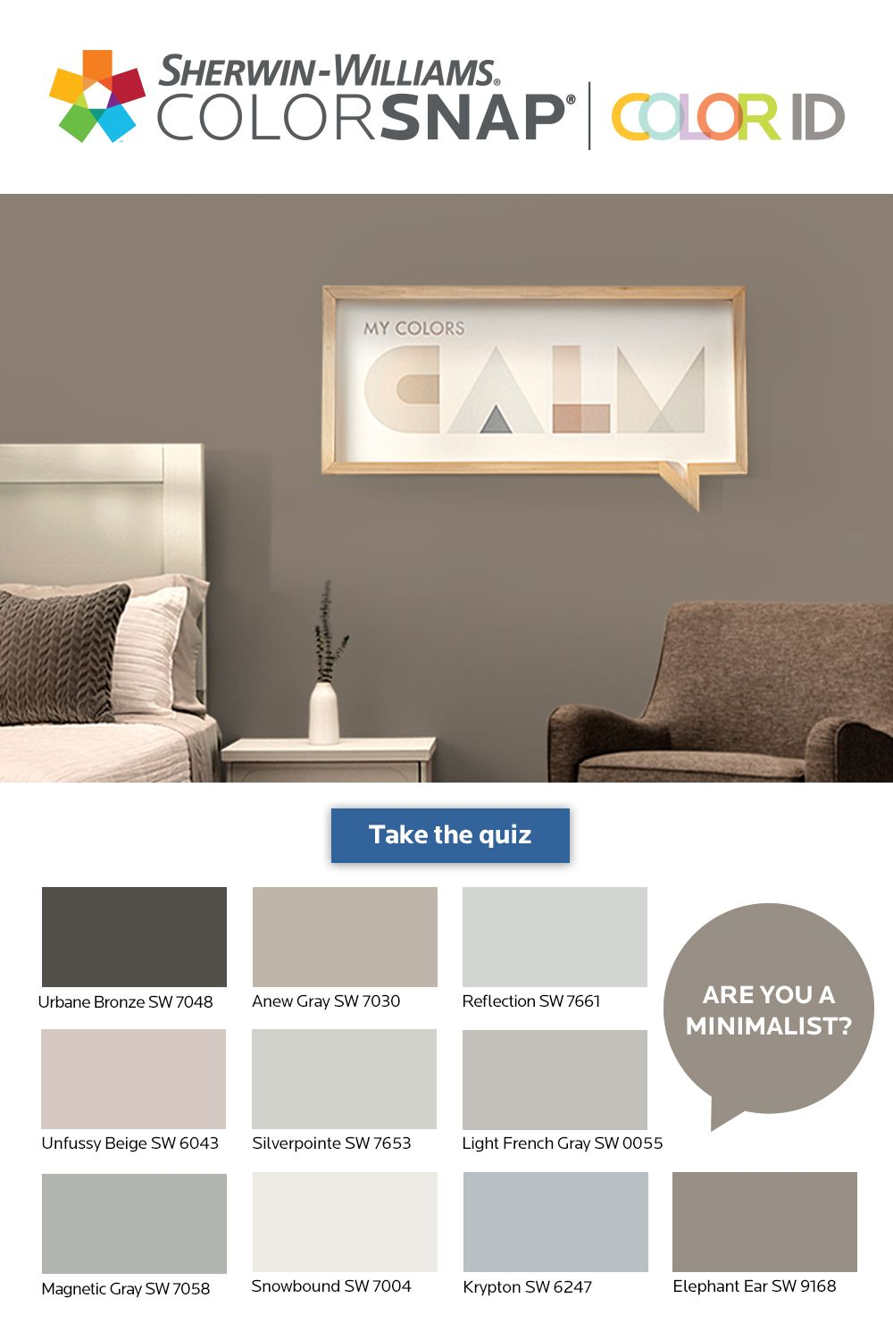 What S Your Color Id Take The Quiz To Find A Color Palette That Matches Your Unique Personality Room Wall Colors Paint Colors For Living Room Room Colors