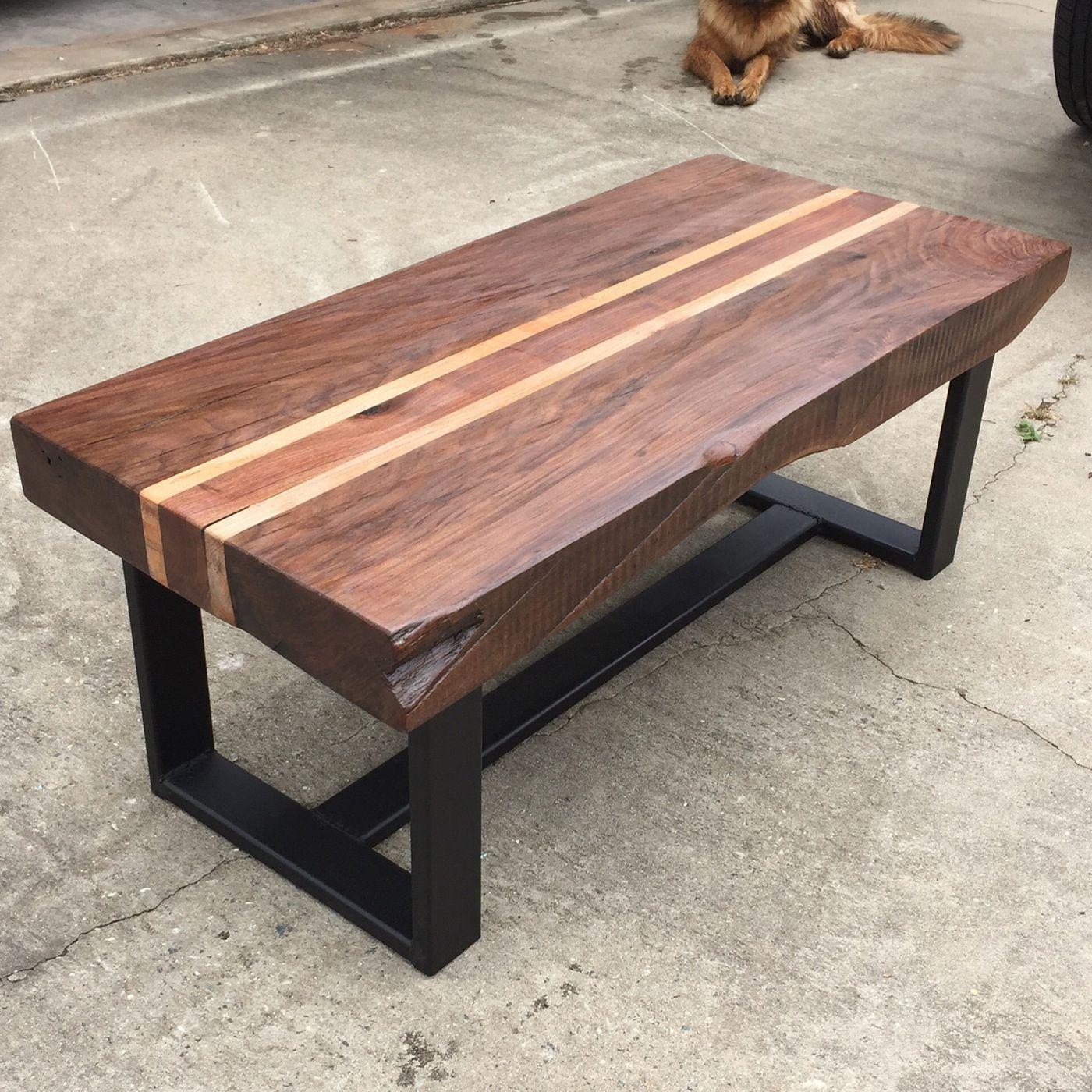- Rustic Walnut Coffee Table Coffee Table, Solid Oak Coffee Table