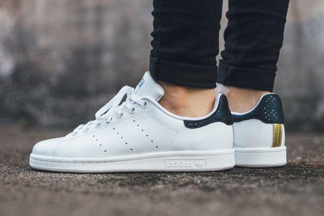 Weiß Dunkelblau Schuhe Adidas Originals | Stan Smith