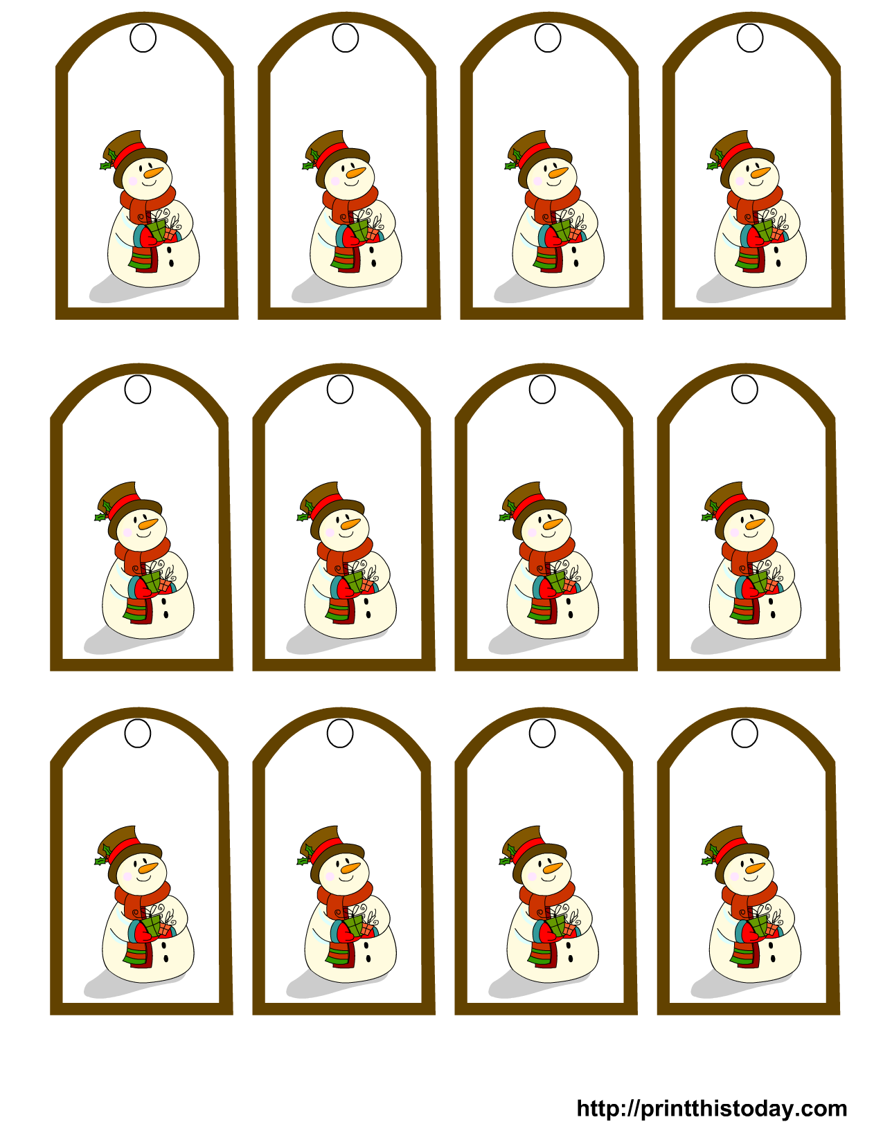 free christmas gift tag clipart [ 1275 x 1650 Pixel ]