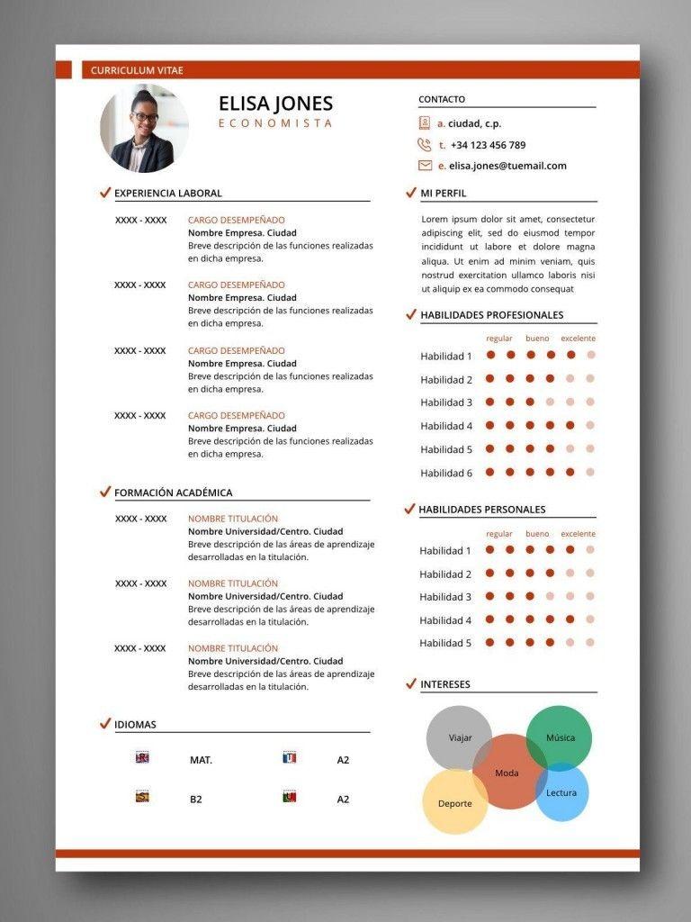 Mejores Plantillas Curriculum Infografia Word Cv Resume Template Resume Template Curriculum