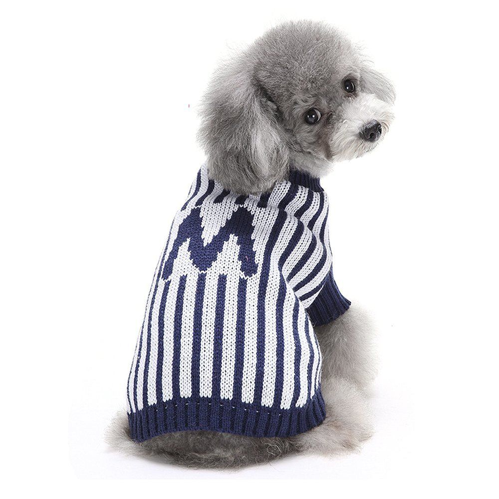 HAPEE Dog Clothes Letter Pattern Knit Sweater Pet Dog Coat