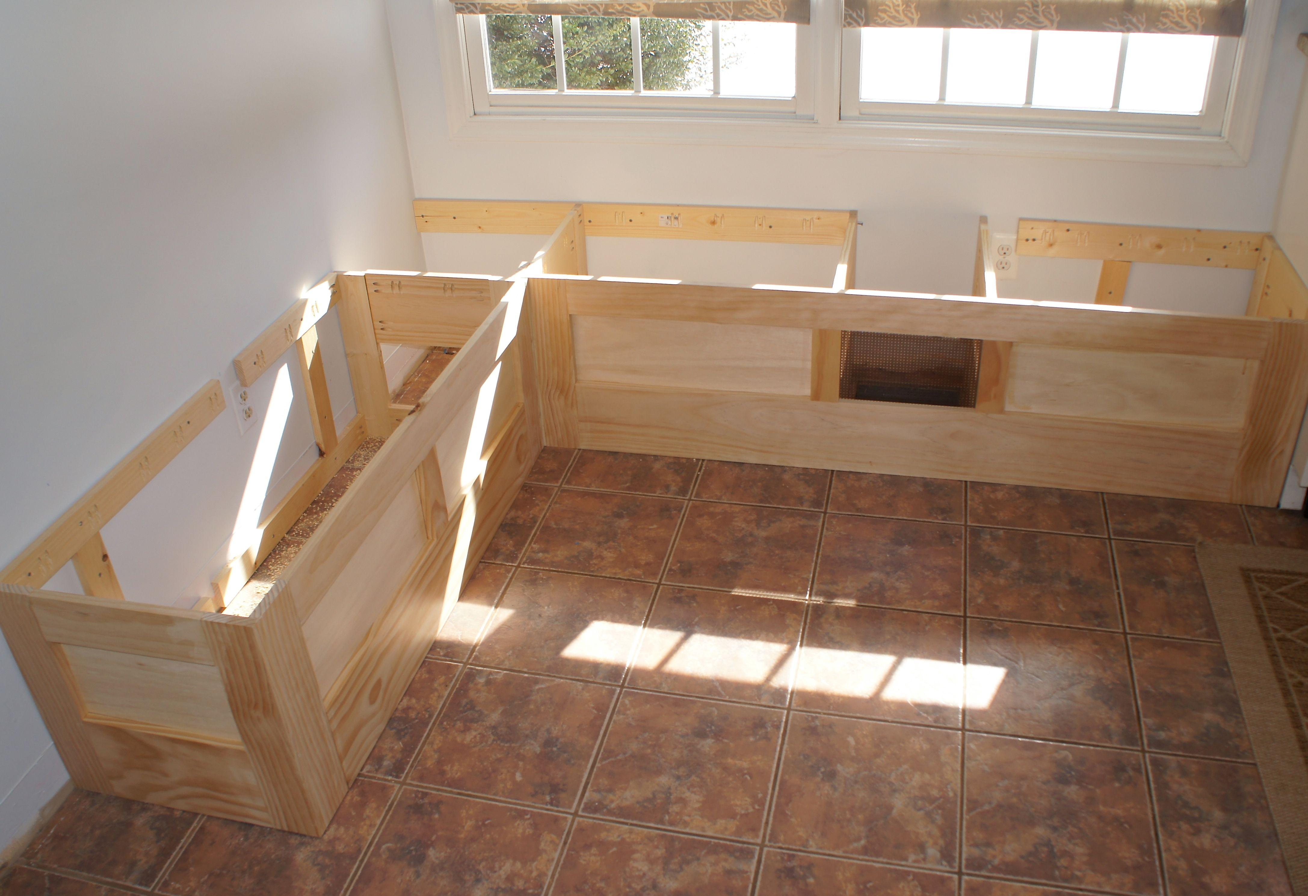 Kitchen Bench Seating With Storage Plans Diy storage bench