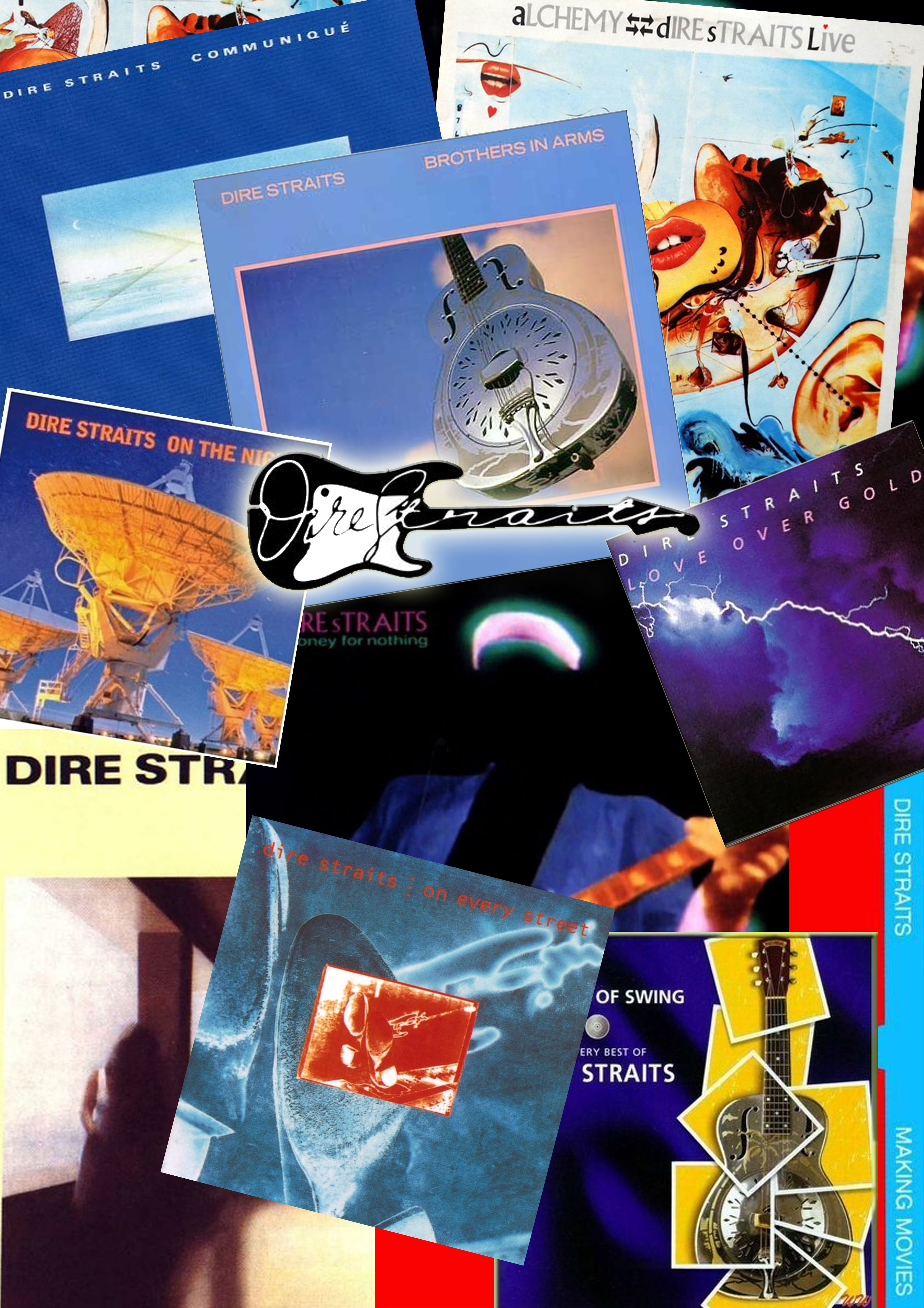 Just Created This Poster From All Dire Straits Albums Musica Encarte Artes