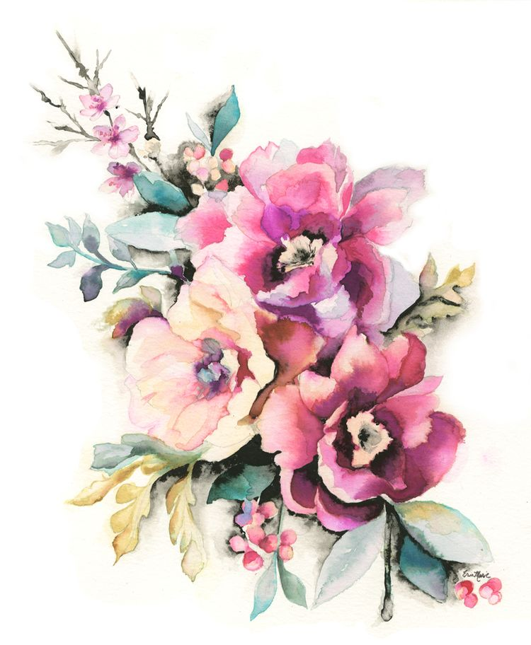 Erin marie illustration peony floral watercolor flowers inspiration blossom pinterest - Flowers native to greece a sea of color ...