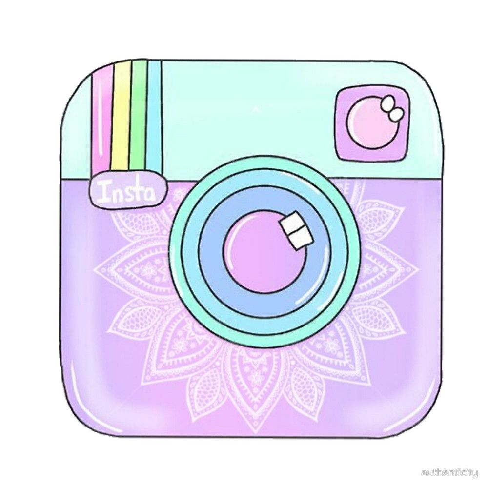 """Cute Instagram Logo"" by authenticity Redbubble art"