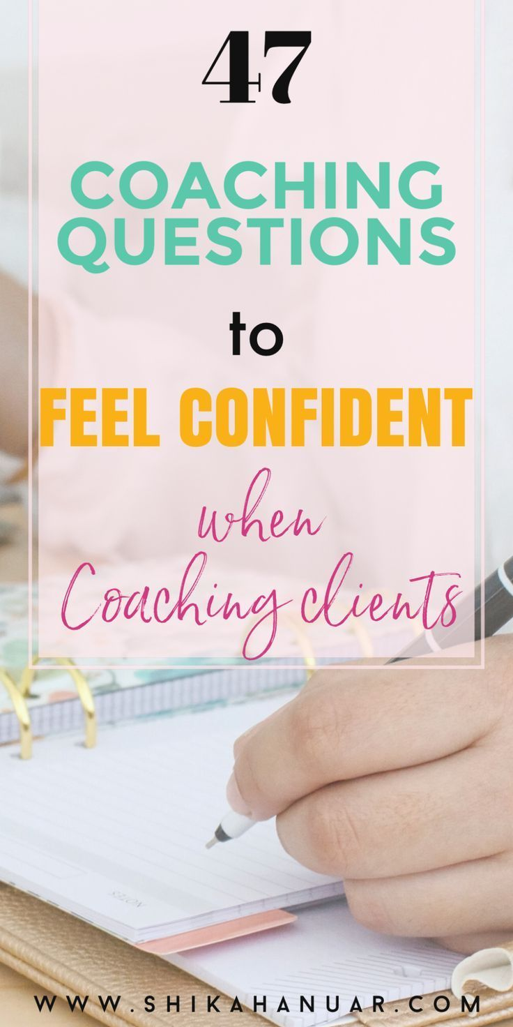 47 Coaching Questions to help you feel Confident a
