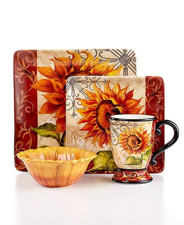 Tuscan Dinnerware | Dinnerware, Tuscan Sunflower Collection - Casual ...