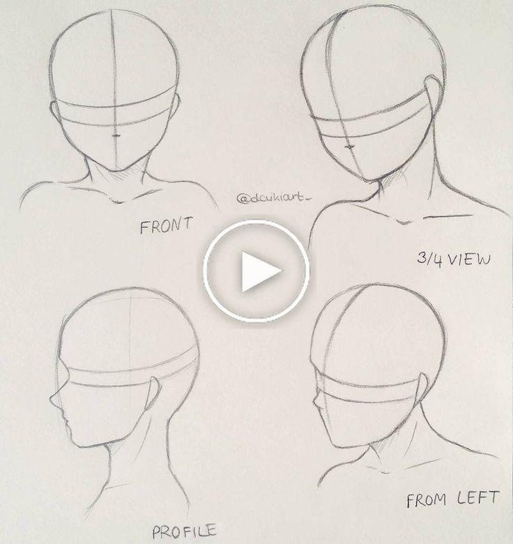 漫画#How #to #draw #different #head #poses #Maybe#この#tutorial #helps #A #bit、#bit #Draw #helps #Manga #poses #Tutorial #漫画少女 #最高の漫画 #マンガ #アニメ