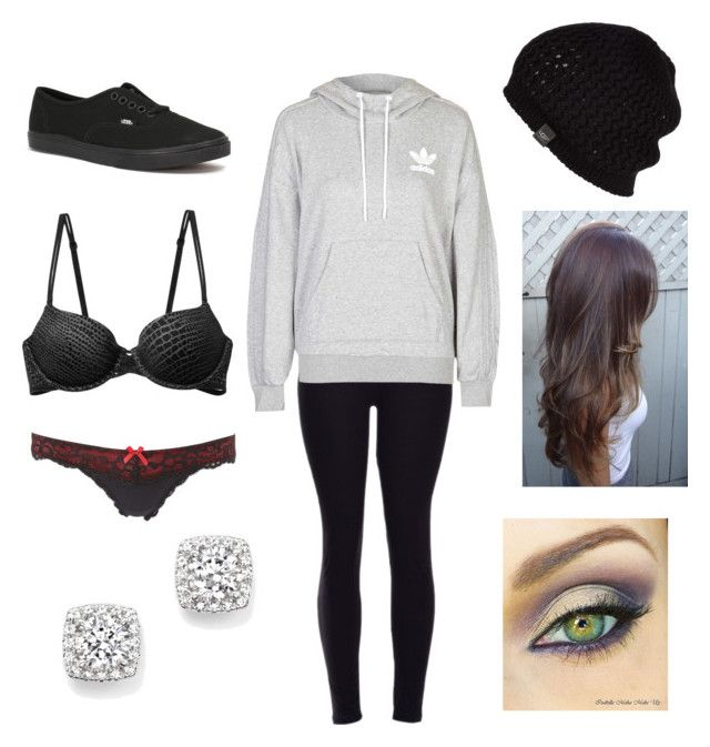 """""""Lazy"""" by rebekah987 ❤ liked on Polyvore featuring adidas, UGG Australia, Bloomingdale's, Vans, Calvin Klein Underwear and Charlotte Russe"""