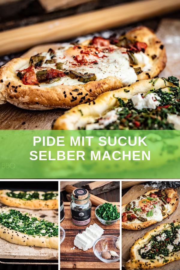 Pide selber machen - Türkische Pide vom Pizzastein im Grill