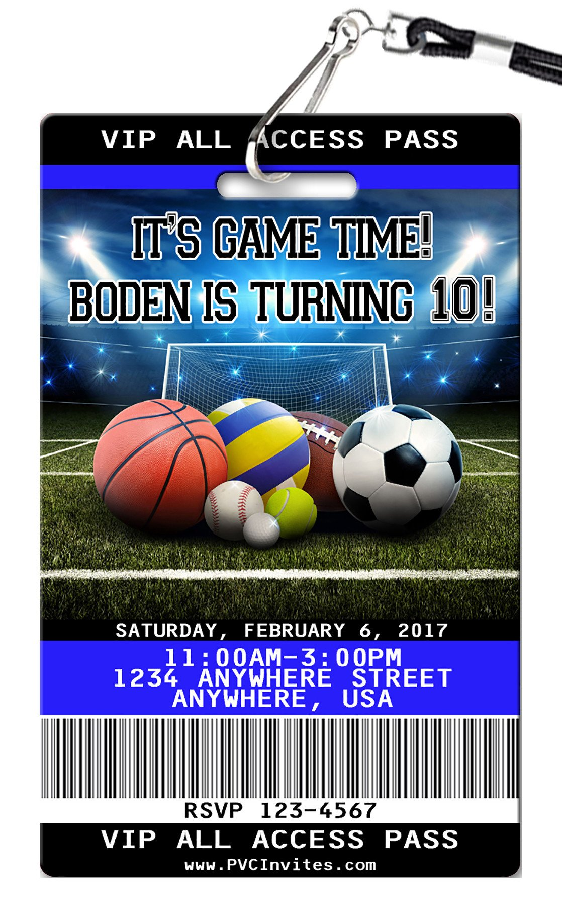Sports Birthday Invitation Football Birthday Invitations Sports