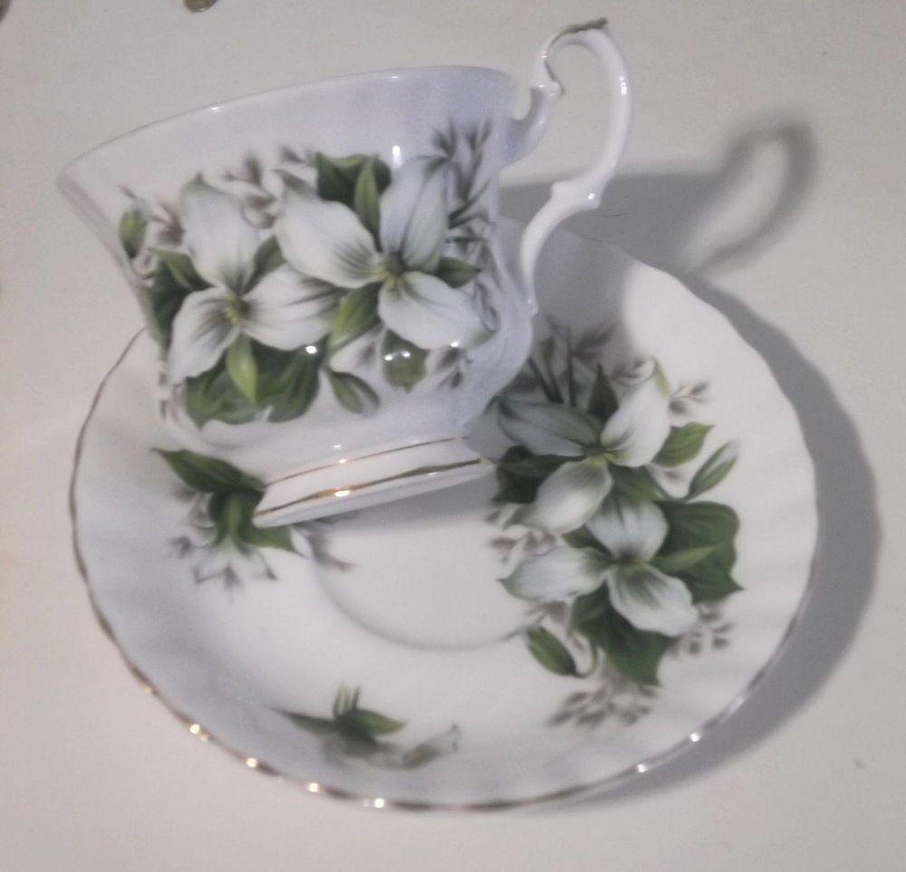 Vintage Royal Albert English  Bone China Trillium Cup & Saucer