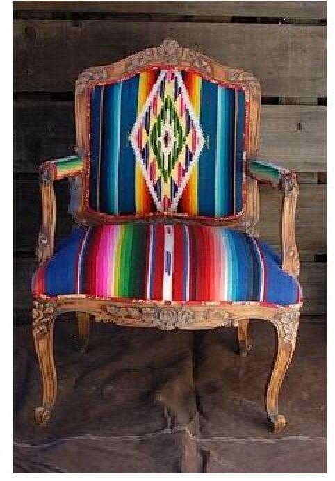 Tapiz sarape de saltillo m xico sillones y sillas for Casa mexicana muebles