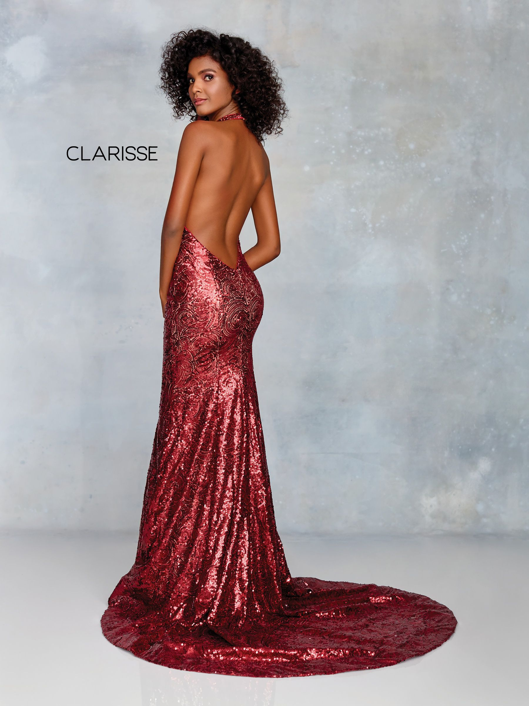 5cd54282 3721 - Wine and nude sequin prom dress | Clarisse Prom 2019 | Prom ...