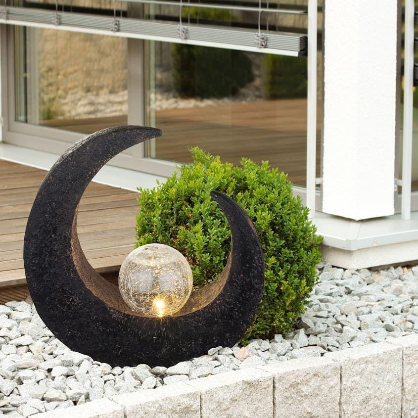 Dir Fehlt Noch Ein Hingucker In Deinem Steingarten Die Globo Mond Aussenleuchte Macht Sich Super Im Vorga Solarleuchten Led Solarleuchte Solarleuchten Garten
