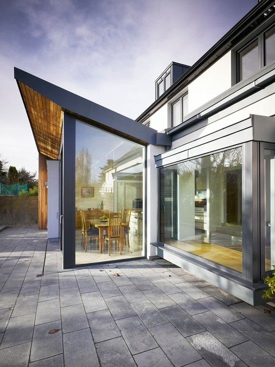 7 Stunning Home Extension Ideas: Home Remodel And Extension Project With Stunning Rear Side Design: Fascinating House Extension
